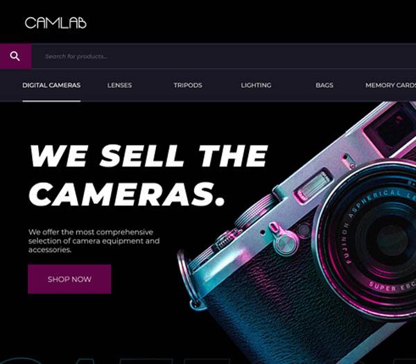 Camlab | Ecommerce Website Design